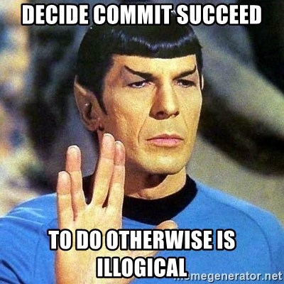 Spock - decide commit succeed to do otherwise is illogical