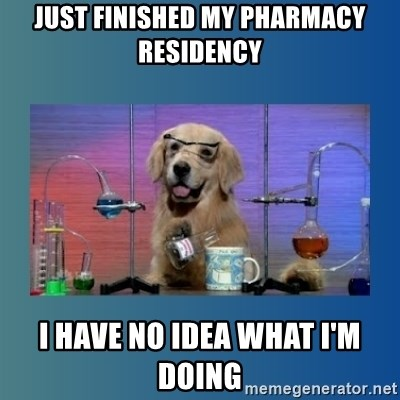 Chemistry Dog - just finished my pharmacy residency i have no idea what i'm doing