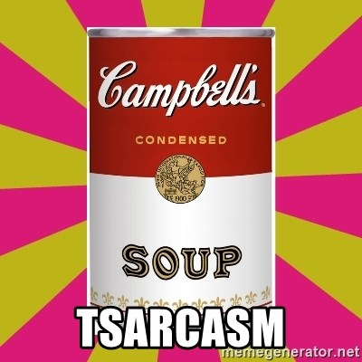 College Campbells Soup Can - tsarcasm