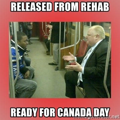 Rob Ford - Released from rehab ready for canada day