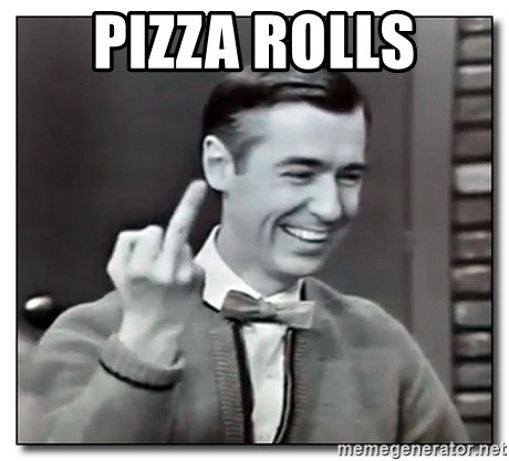 Mr Rogers gives the finger - Pizza Rolls