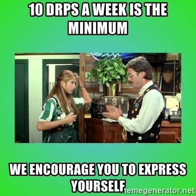 Office Space Flair - 10 Drps a week is the minimum we encourage you to express yourself