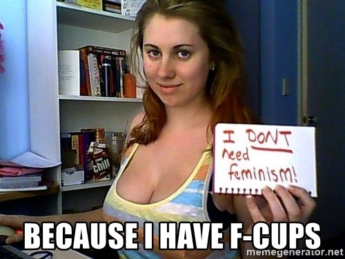 Dont Need Feminism - because i have f-cups