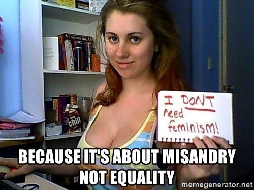 Dont Need Feminism - because it's about misandry not equality