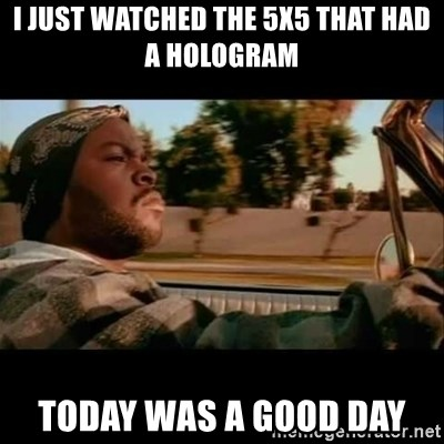 Ice Cube- Today was a Good day - I Just Watched the 5x5 that had a hologram Today was a Good day