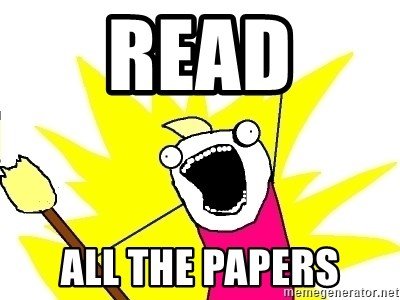 X ALL THE THINGS - read all the papers