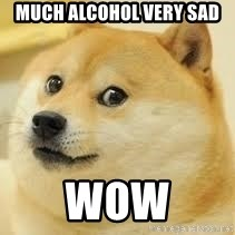 dogeee - much alcohol very sad wow