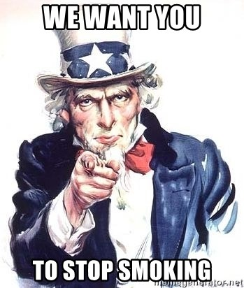 Uncle Sam - we want you to stop smoking
