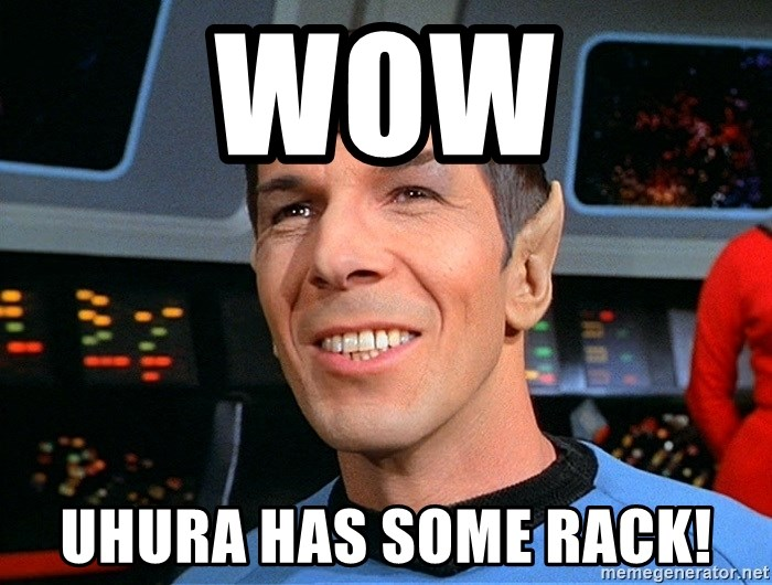 smiling spock - WOW UHURA HAS SOME RACK!