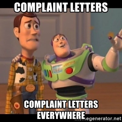 X, X Everywhere  - Complaint letters Complaint letters everywhere