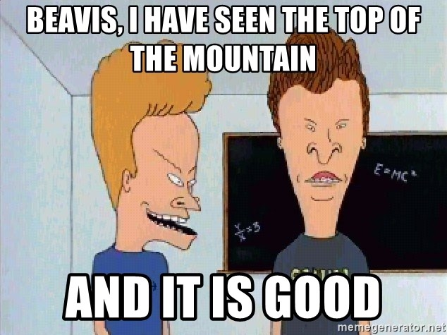 Image result for i have seen the top of the mountain and it is good