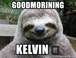 Sexual Sloth - Goodmorining  Kelvin 😂