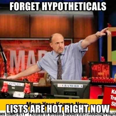 Karma Cramer - FORGET HYPOTHETICALS LISTS ARE HOT RIGHT NOW