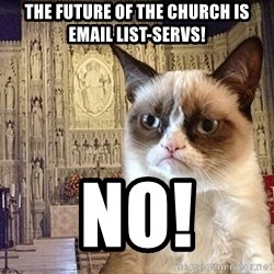 Grumpy Episcopal Cat - the future of the church is email list-servs! no!
