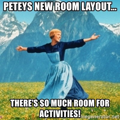 Peteys New Room Layout Theres So Much Room For Activities