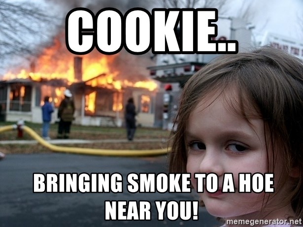 Disaster Girl - Cookie..  bringing smoke to a hoe near you!