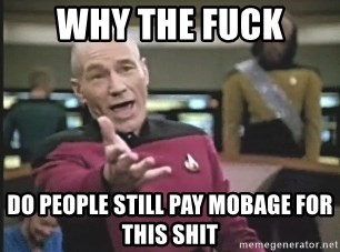 Picard Wtf - Why the Fuck Do people still pay Mobage for this shit