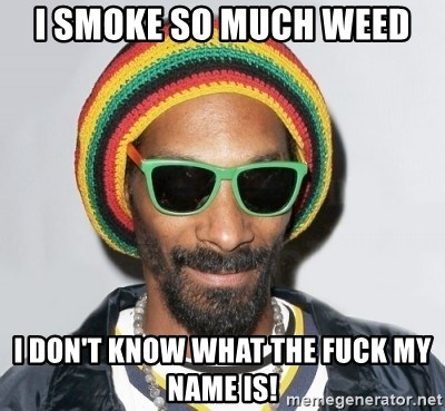 Snoop lion2 - I SMOKE SO MUCH WEED I DON'T KNOW WHAT THE FUCK MY NAME IS!