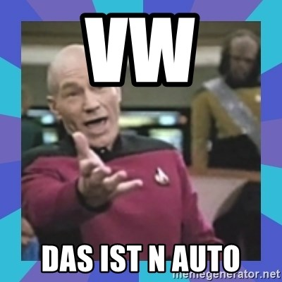 what  the fuck is this shit? - vw Das ist n auto