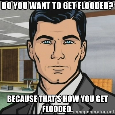 Archer - Do you want to get flooded? Because that's how you get flooded.