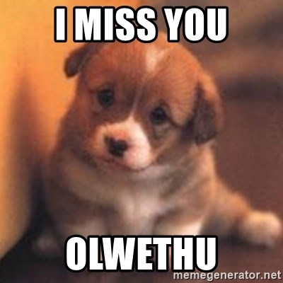 cute puppy - I miss you Olwethu