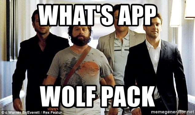 Whats App Wolf Pack Hangover Wolf Pack Meme Generator