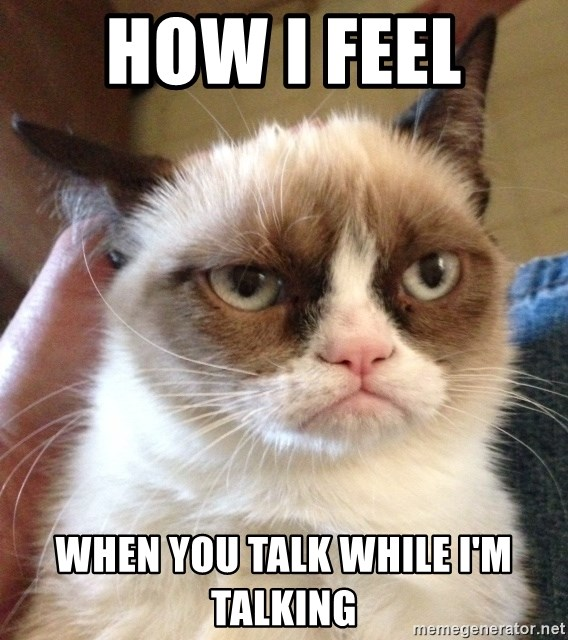 Grumpy Cat 2 - How I Feel  When you talk while I'm talking
