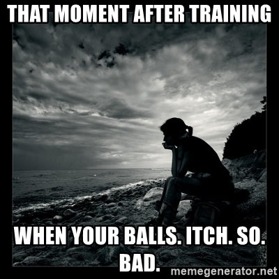 What makes your balls itch