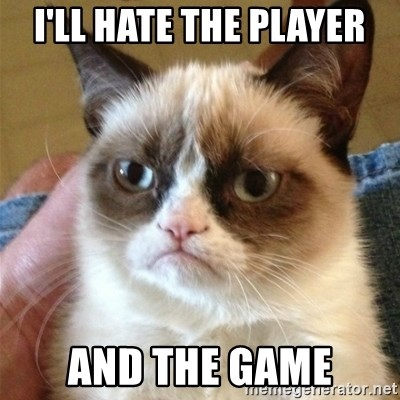 Grumpy Cat  - I'll hate the player and the game
