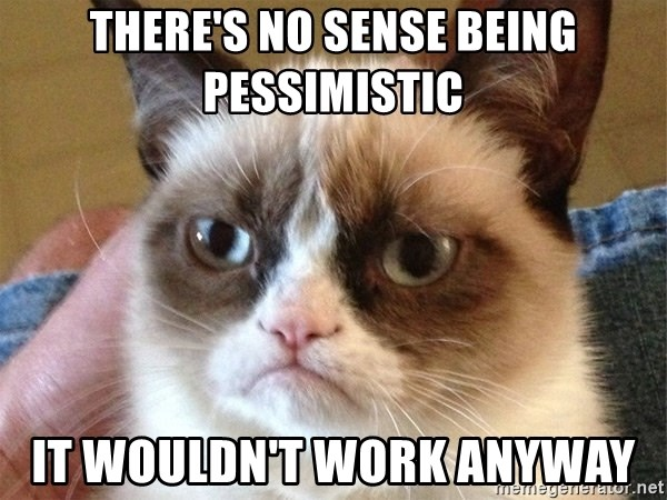 Angry Cat Meme - there's no sense being pessimistic it wouldn't work anyway