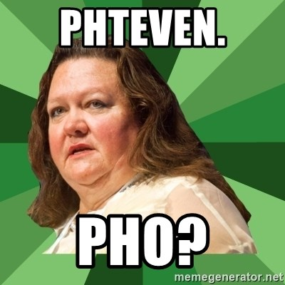 Dumb Whore Gina Rinehart - Phteven.  Pho?