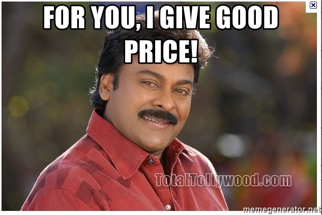 Typical Indian guy - For you, I give good price!