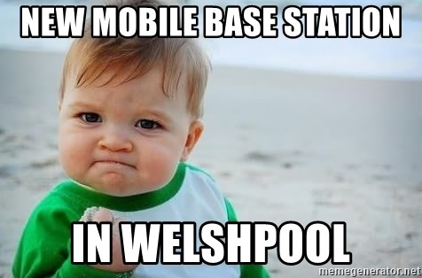 fist pump baby - NEW MOBILE BASE STATION IN WELSHPOOL