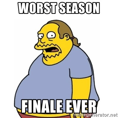 Comic Book Guy Worst Ever - worst season  finale ever
