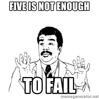 aysi - Five is not ENOUGH  to fail