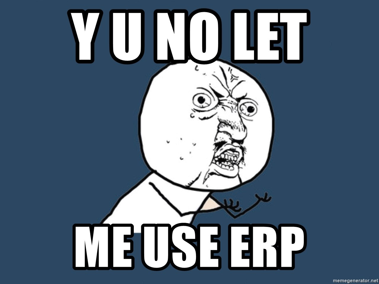 Y U No - y u no let  me use erp