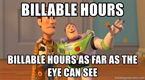 buzz as far as the eye can see - Billable hours billable hours as far as the eye can see