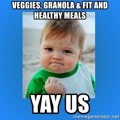Veggies Granola Fit And Healthy Meals Yay Us Yes Baby 2 Meme Generator Add your own captions to a 'seattle seahawks' blank meme. fit and healthy meals yay us