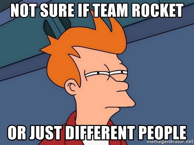 Futurama Fry - Not sure if team rocket or just different people
