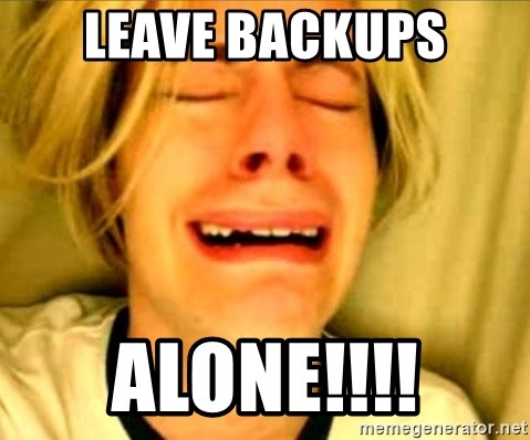 Leave Brittney Alone - LEAVE BACKUPS ALONE!!!!
