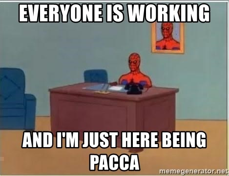Spiderman Desk - Everyone is working  and I'm just here being pacca