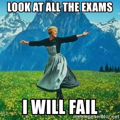 Look at All the Fucks I Give - look at all the exams  I will fail