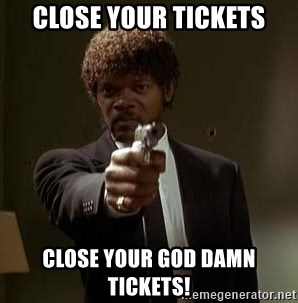 Jules Pulp Fiction - CLOSE YOUR TICKETS CLOSE YOUR GOD DAMN TICKETS!