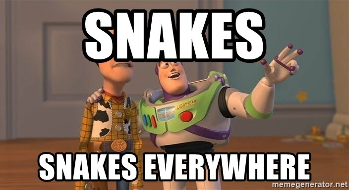 ORIGINAL TOY STORY - SNAKES SNAKES EVERYWHERE