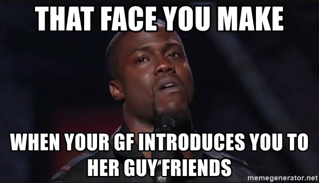 Kevin Hart Face - That face you make When your gf introduces you to her guy friends