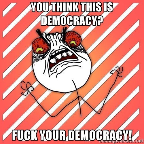 iHate - YOU THINK THIS IS DEMOCRACY? FUCK YOUR DEMOCRACY!