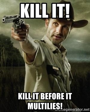 Walking Dead: Rick Grimes - kill it! kill it before it multilies!