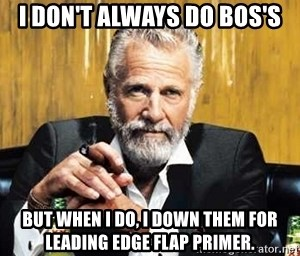 The Most Interesting Man In The World - I don't always do BOS's But when i do, i down them for leading edge flap primer.