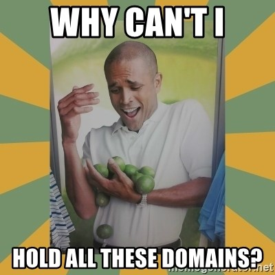 Why can't I hold all these limes - WHY CAN'T I HOLD ALL THESE DOMAINS?