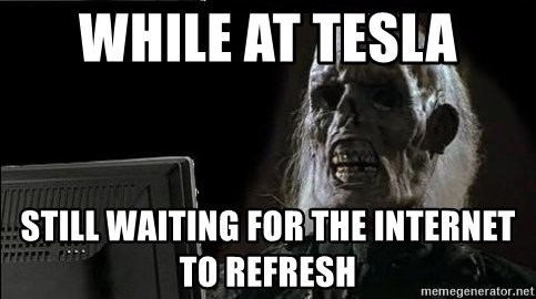 OP will surely deliver skeleton - While at Tesla Still waiting for the Internet to refresh